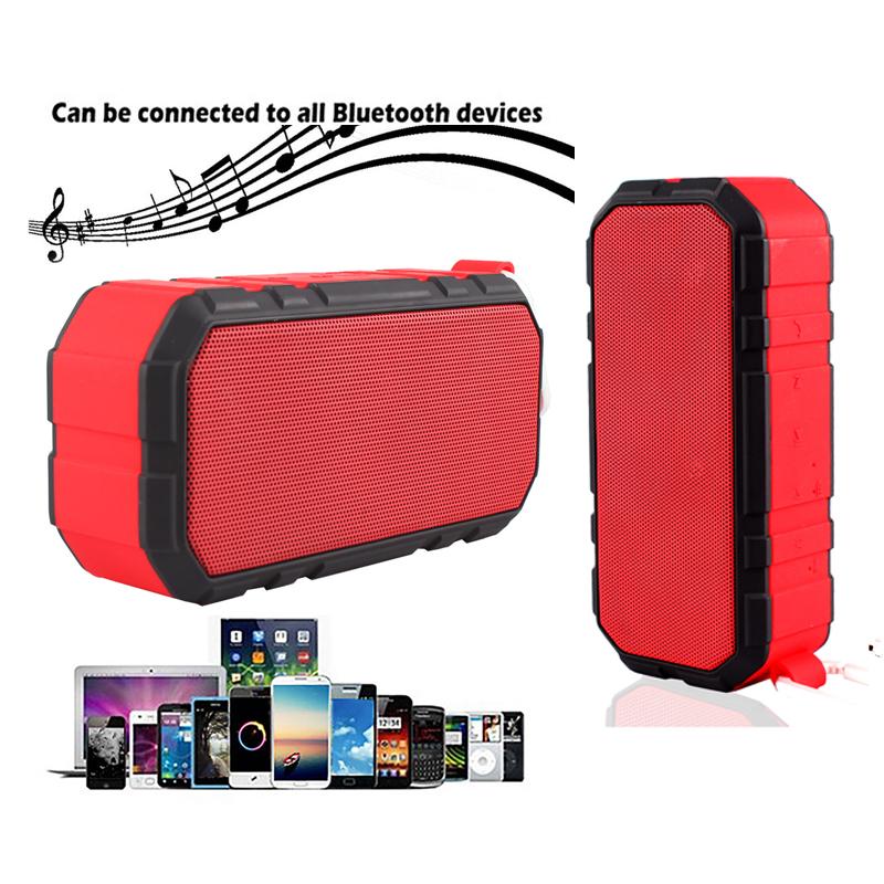 Outdoor Waterproof Shockproof Wireless Bluetooth v4.0 Stereo Speaker & 4000mAh Power Bank