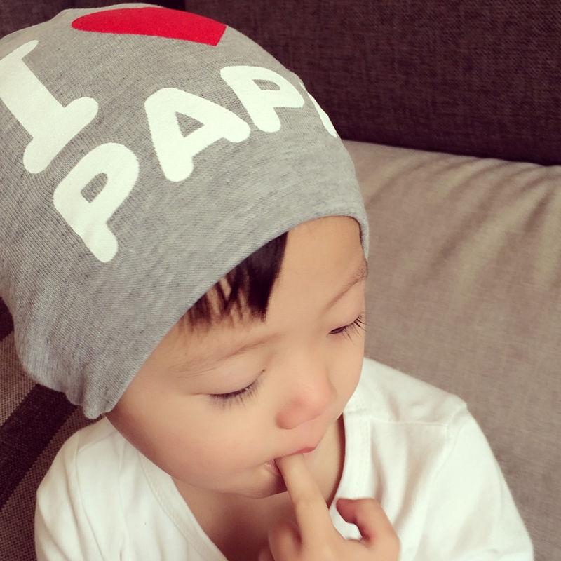 Fashion Kids Baby Infant Love PAPA & MAMA Hat Cute Soft Warm Cap Cotton Beanie