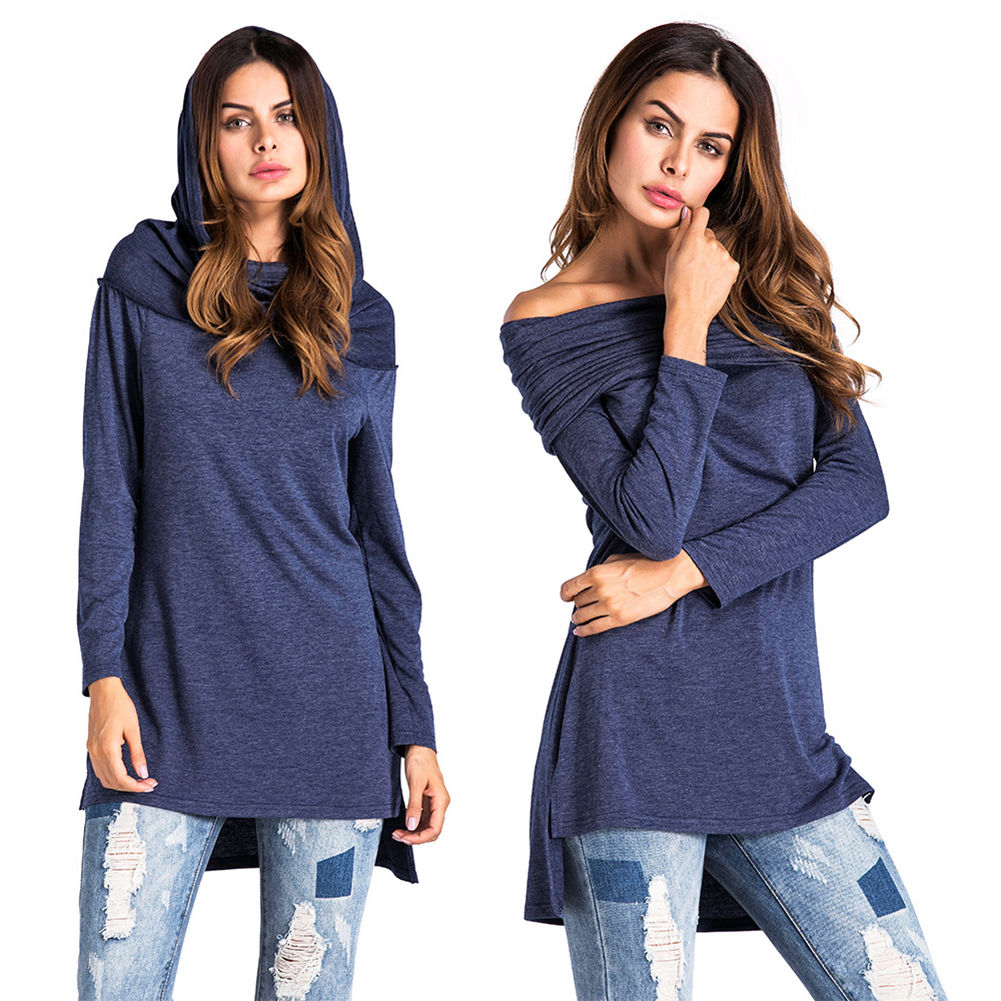 Womens Long Sleeves Top T-shirt Ladies Casual Party Mini Dress Blouse