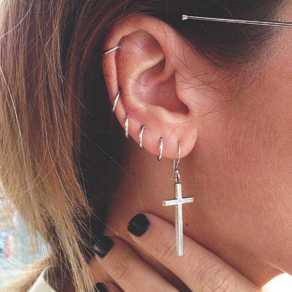 925 Sterling Silver Earrings Hoop Circle Anti-allergy Earrings Accessories