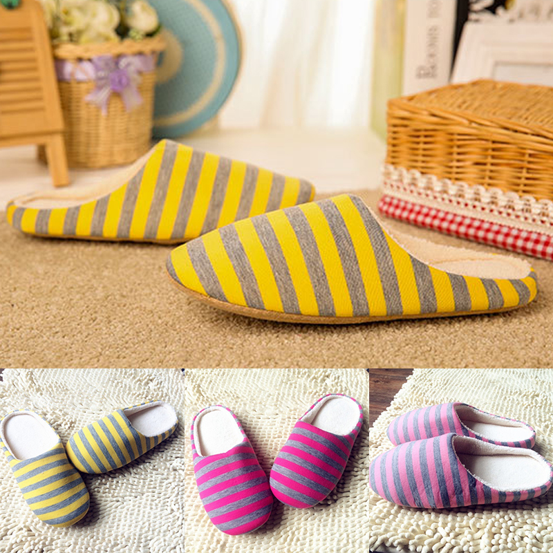 Fashion Casual Winter Warm Slippers Indoor Floor Shoes Non-slip House Shoes