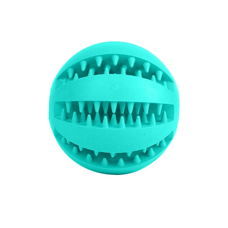 Pet Rubber Ball Chew Treat Dispensing Holder Dog Puppy Cat Toy Training Dental