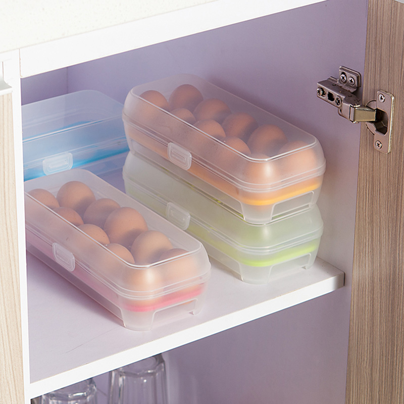 Plastic Egg Storage Case Holder Box For Fridge & Freezer Eggs Container Tool
