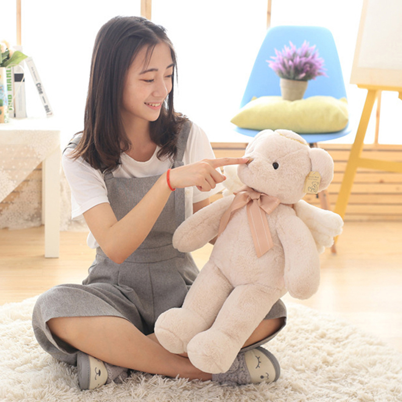 25/40CM Kids Plush Angel Bear Doll Stuffed Soft Toys With Wings Plush Toys Gift