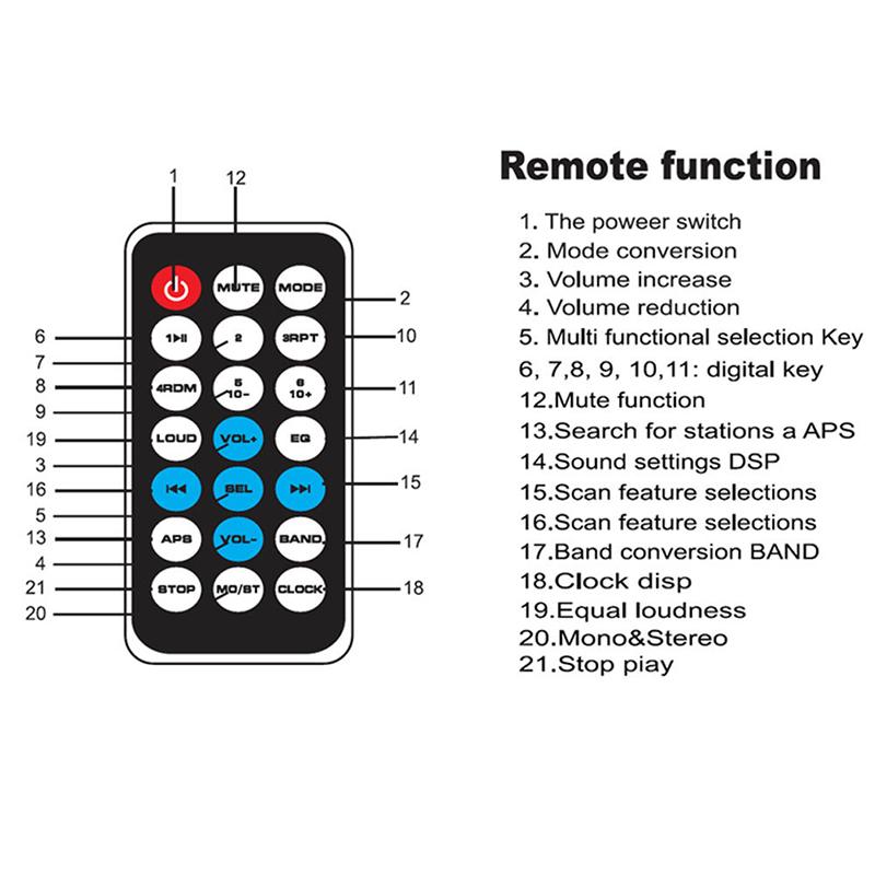Car Bluetooth In-Dash Stereo Audio USB SD FM Aux Input Receiver MP3 Radio Player