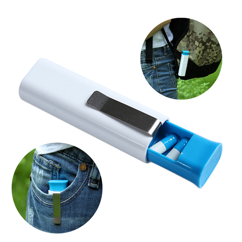 Portable 3 Grid Clip Pill Box Holder WaterProof Pill Storage Organizer Container Medicine Case