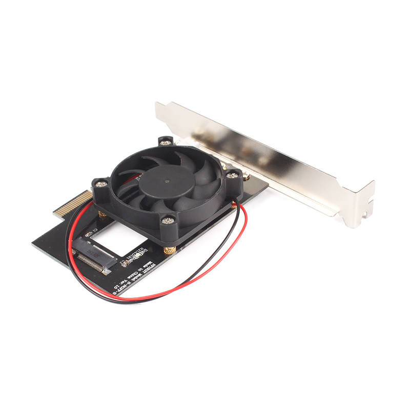 Fan Cooling PCIe x4 To M.2 NGFF For MZHPU128HCGM,MZHPU512HCGL SSD Adapter Card