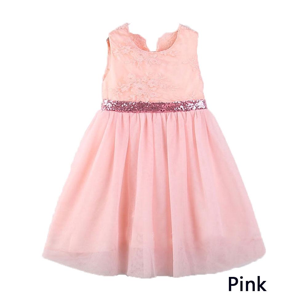 Baby girl sleeveless big bowknot back princess dress children clothes