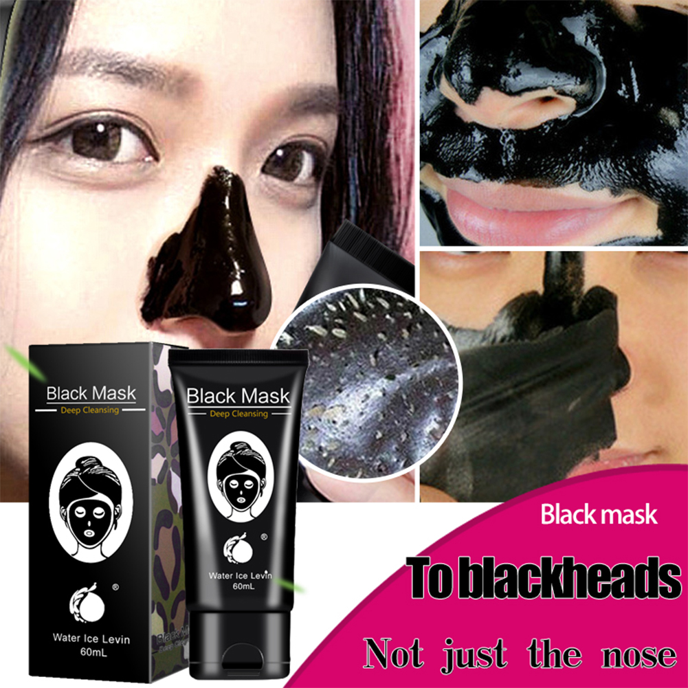 Water Ice Levin 60g Black Head Acne Treatments Black Suction Mask Nose Blackhead Remover Peeling Peel Off Facial Mask