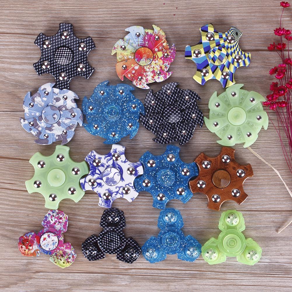 Colorful Dazzling EDC Hand Spinner Diverse Shaped Fidget Spinner Finger Tips Desk Toys