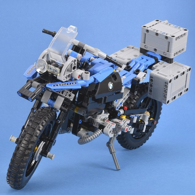 mylb Technic The BAMW R 1200 Gs Adventure Off-road Motorcycles set Building Blocks 603pcs Bricks assembly  Toys