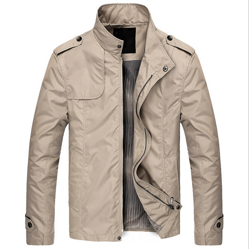 New Spring Winter Men's PU Jackets Fashion Casual Collar Slim Short Thin Coat