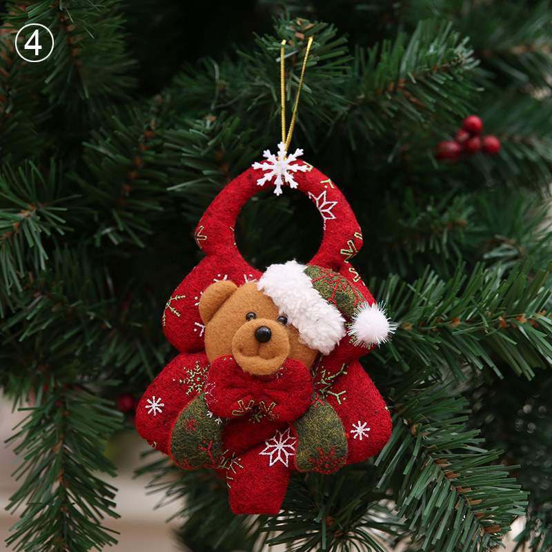 Christmas Ornaments Christmas Tree Santa Claus Pendants Drop Christmas Home Decorations