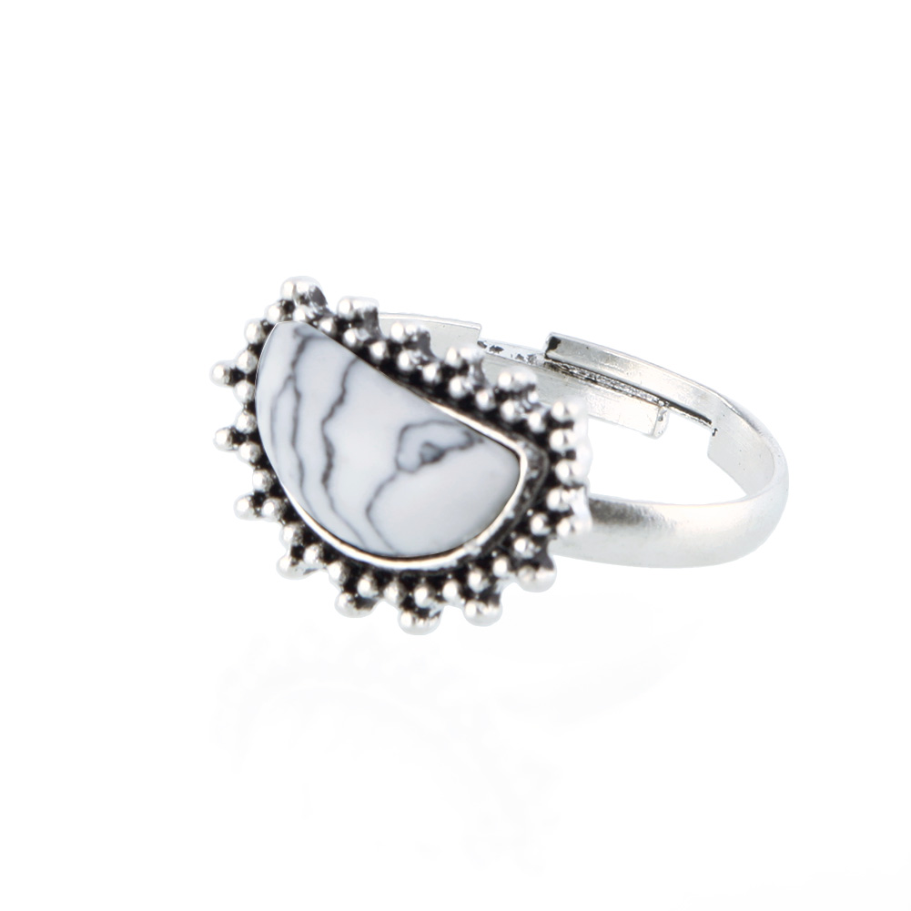 14Pcs/Set Bohemian Sliver Plated Knuckle Ring Turquoise Stone Gem Midi Ring Jewelry