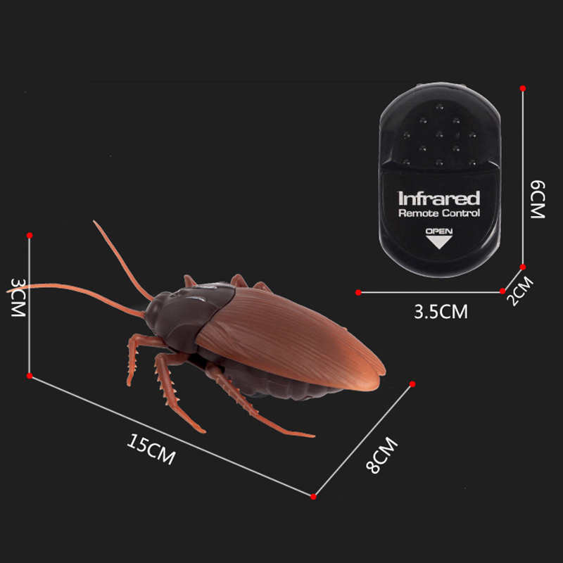 Remote Control Fake Cockroach RC Toy Prank Insects Joke Scary Trick Toys