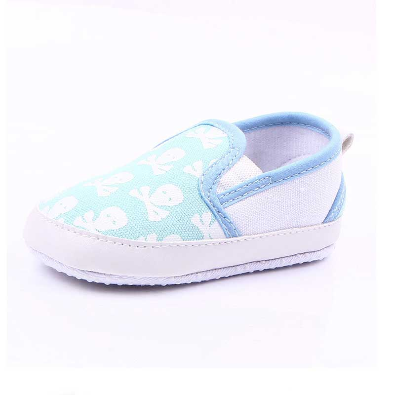Fashion Baby Boys Girls Toddler Non-Slip Soft Sole Skull Print Shoes Sneakers