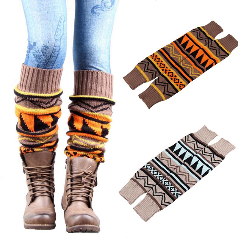 Stylish Winter Snow Socks Boot Socks One Size Underwear Stockings Vintage Leg Warmers