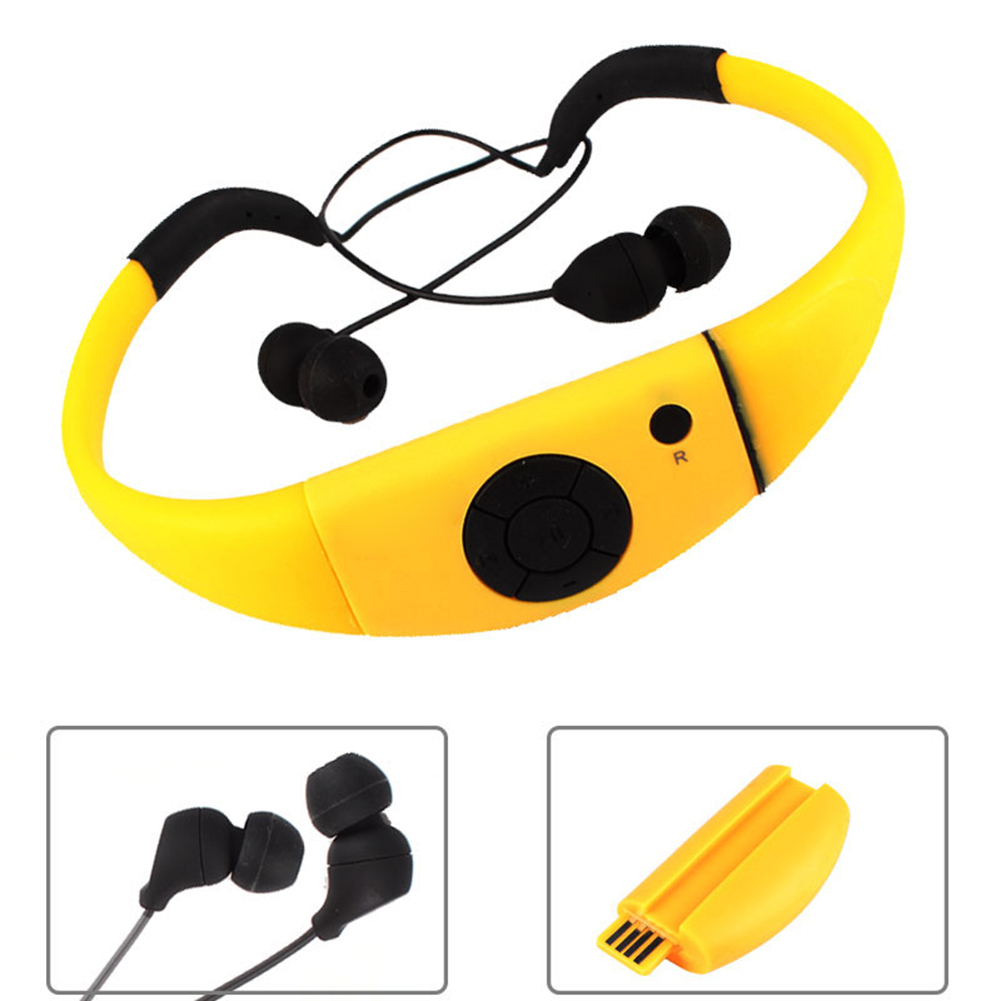 Waterproof Mp3 Player Earphones 8GB Swimming Headset Under Water Music Player for Swimming Surfing Diving