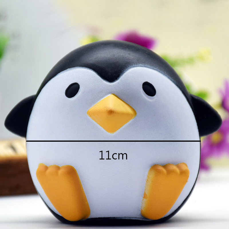 Simulation Penguin Squishy Soft Phone Straps Cell Phone Charm Key Straps