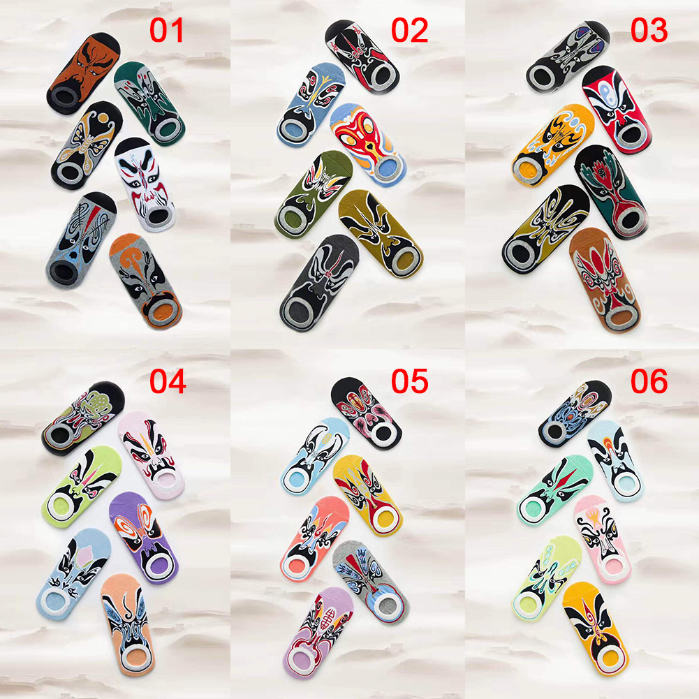 6 Pairs women/Men Cotton 3D Floral Loafer Boat Socks Invisible Low Cut Socks