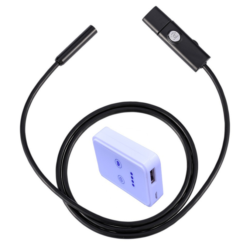 5M Wifi Endoscope Camera LED USB Microscope Borescope for Android/iOS System Smartphones/Tablets
