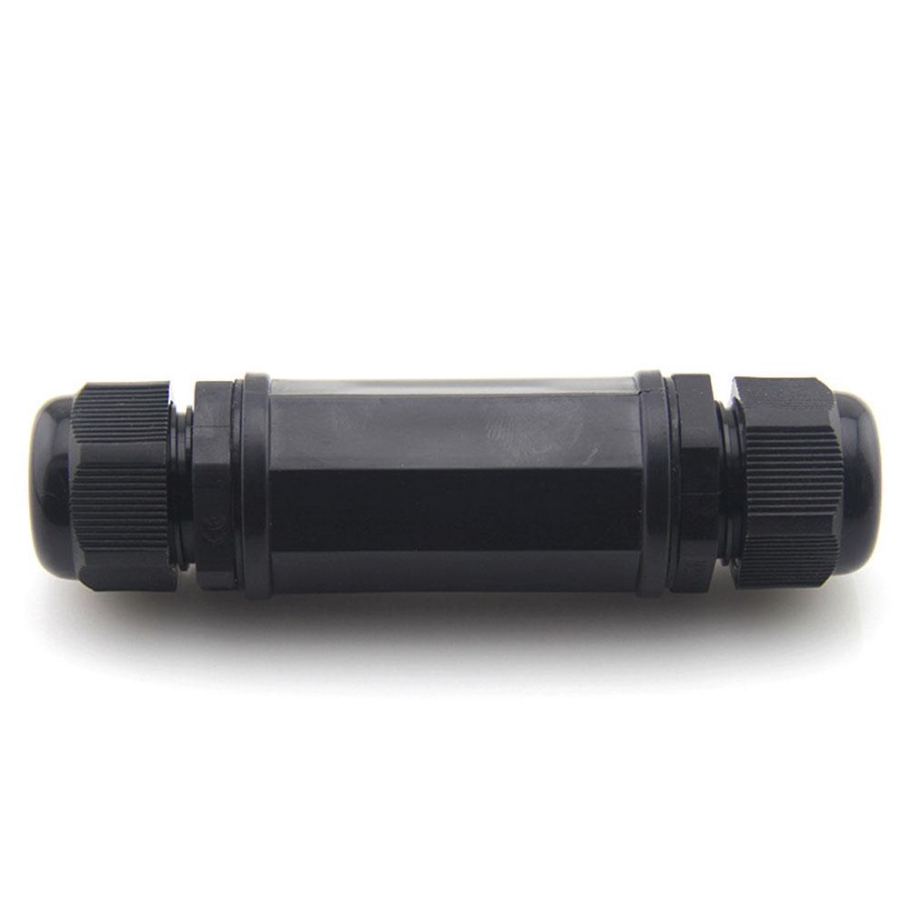 8 Core Waterproof RJ45 8P8C Ethernet LAN Network Plug Socket Connector Black IP68