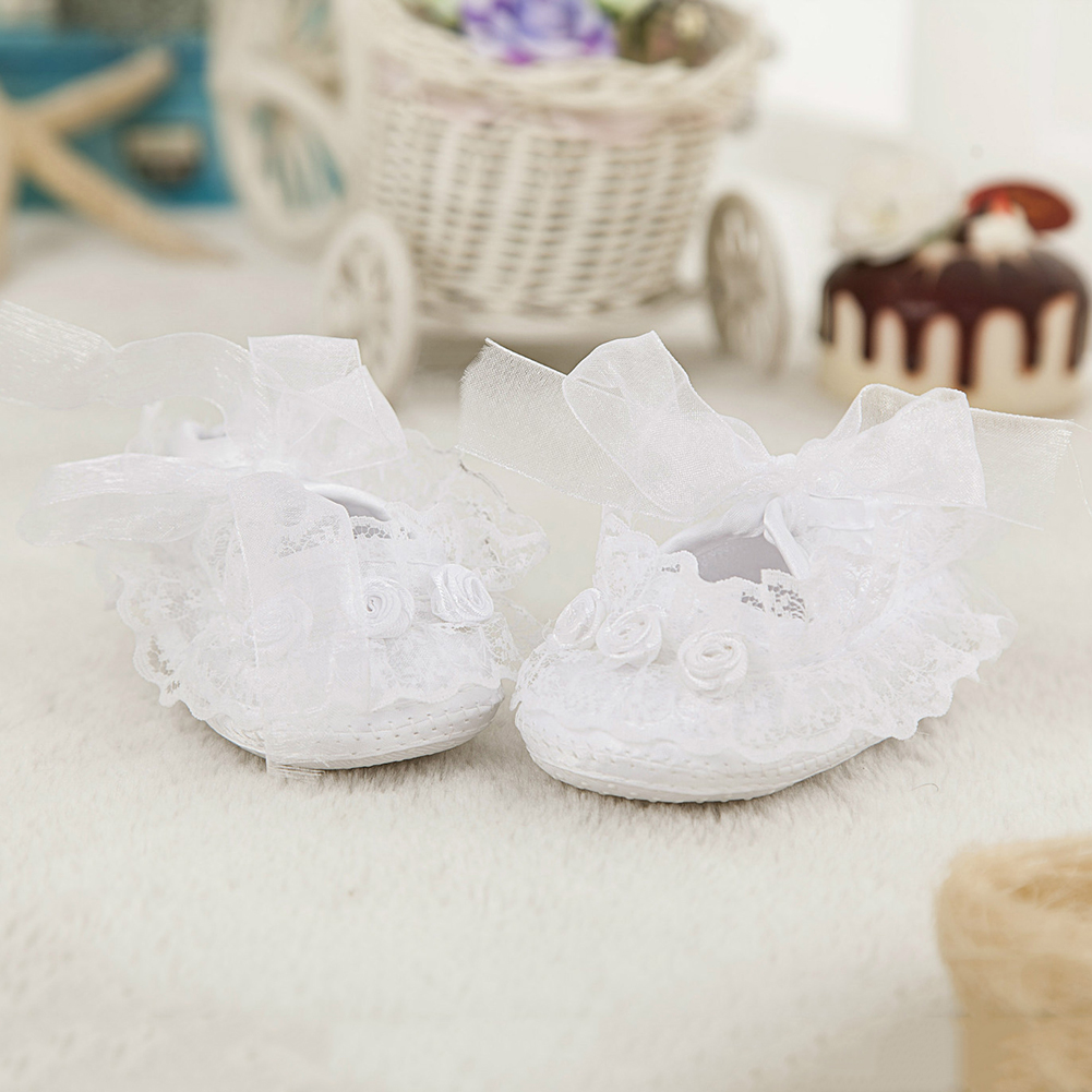 Newborn baby girl toddler embroidered floral princess shoes first walker footwear
