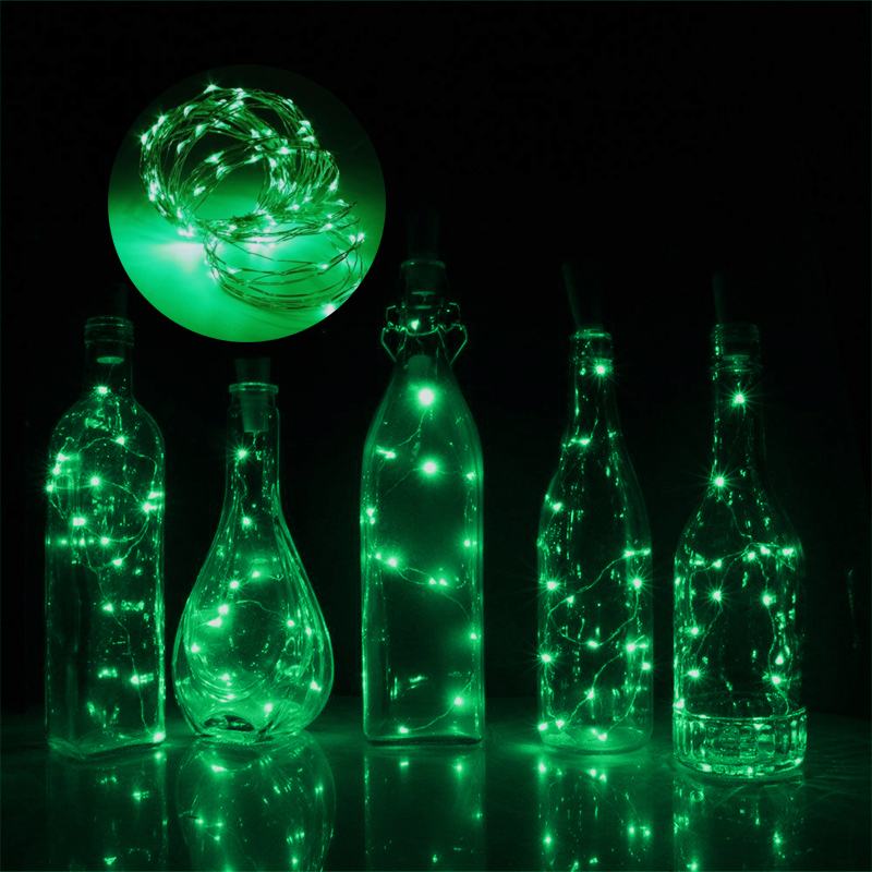 1.5M 15 LED Wine Bottle Cork Shaped String Light Night Fairy Light Lamp Home Decor For Xmas Party