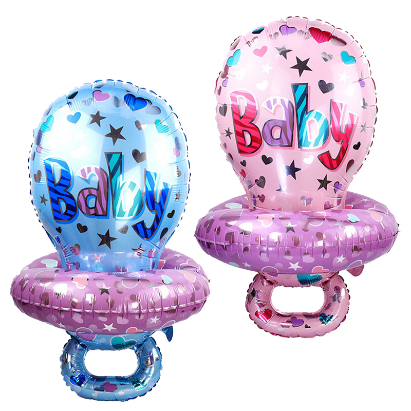 Children Pacifier Foil Balloons Party Decor Nipple Baby Birthday Balloons