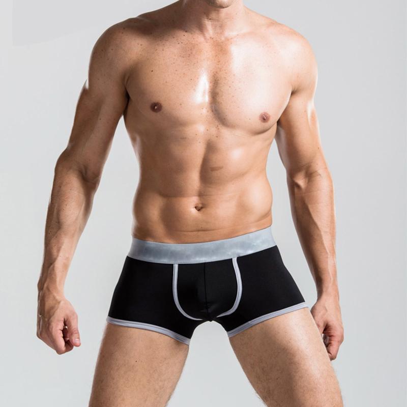 New Hot Trim Comfy Sexy Underwear Men's Boxer Briefs Shorts Bulge Pouch soft Underpants