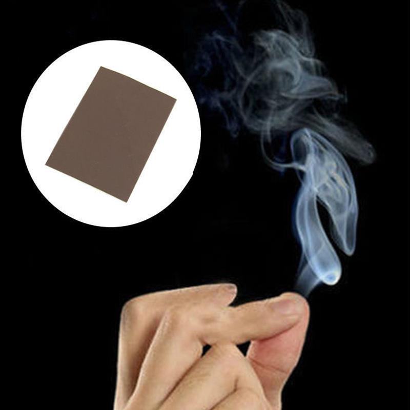 10PCS Adorable Finger Smoke Magic Paper Trick Magic Illusion Stage 5*7CM