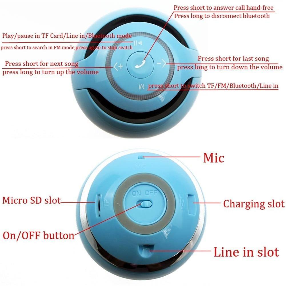 HIFI Bluetooth Music Speaker Mini Portable Wireless Boombox Speaker TF Card FM Radio Hands-free