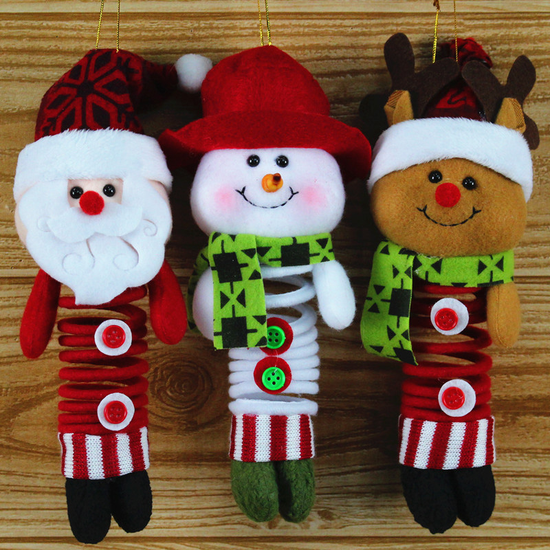 Newest Fabric Home Decorations Christmas Hangers Spring Doll Holiday Gift