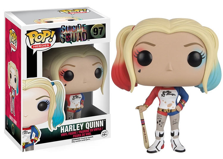 Funko pop DC Suicide Squad 10cm Harley Quinn & Joker Action Figure Toys with retail box