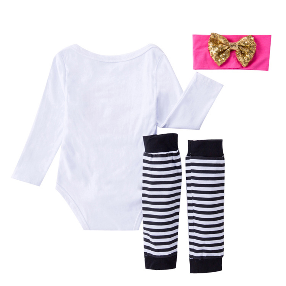 3Pcs Newborn Baby Girl Infant Romper Jumpsuit Playsuit Leggings Clothes Outfits Mama's