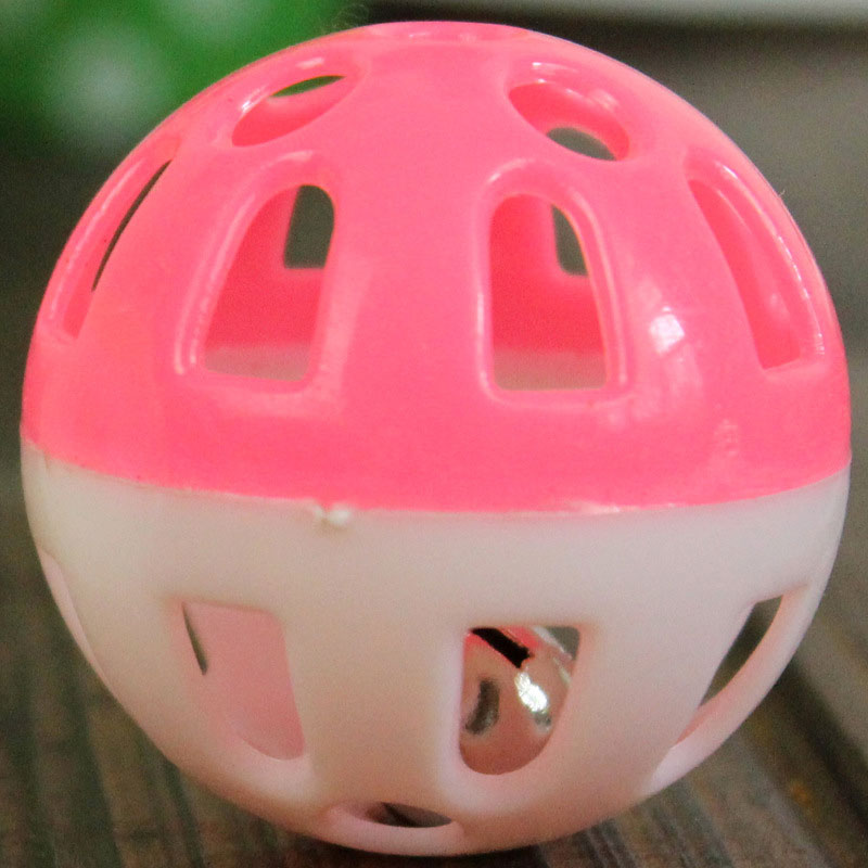 Funny Small Plastic Toy Exercise Ball Pet Cat Toys Wholesales Color Random