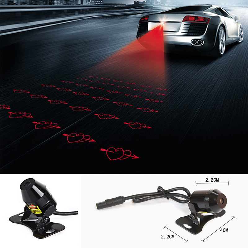 Rear Motorcycle Fog Lights Laser Tail Warning Waterproof Brake Universal Motorbike