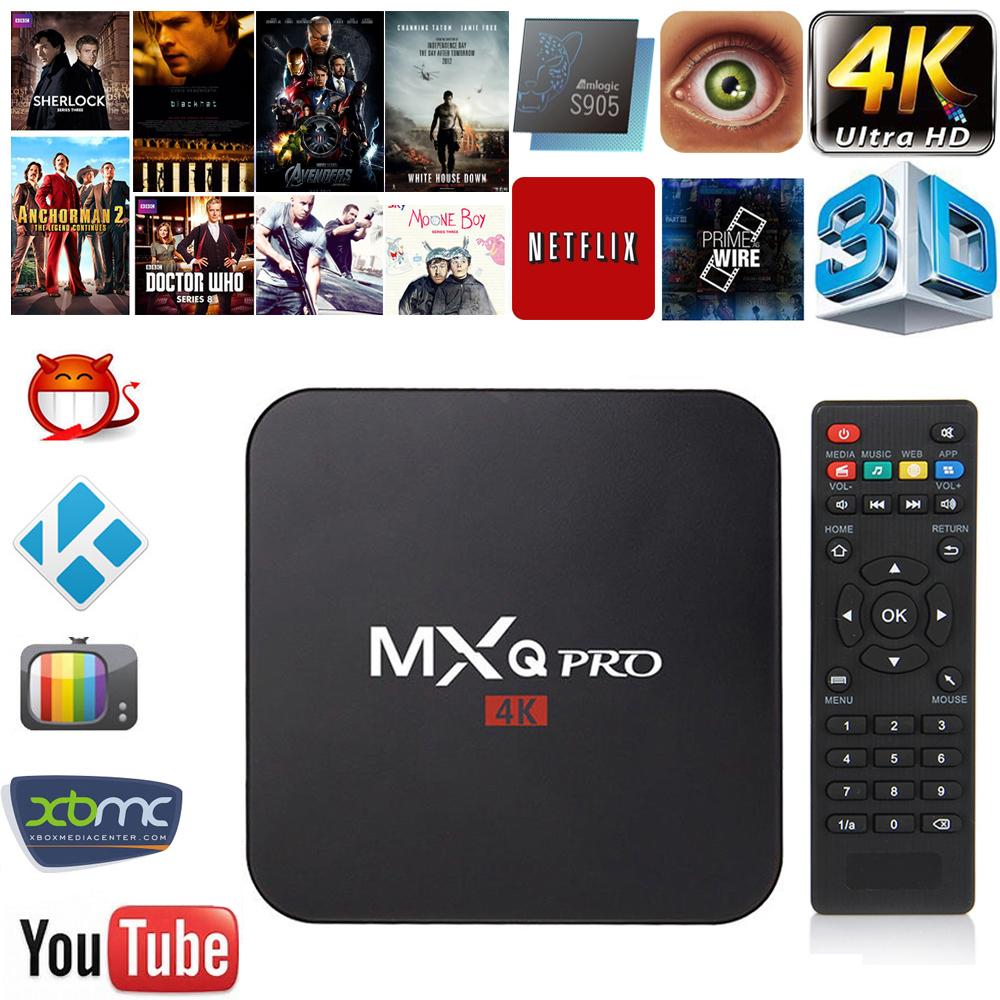 1G+8G MXQ Pro XBMC Kodi QUAD CORE 4K Android 5.1 Lollipop Smart TV BOX EU Plug