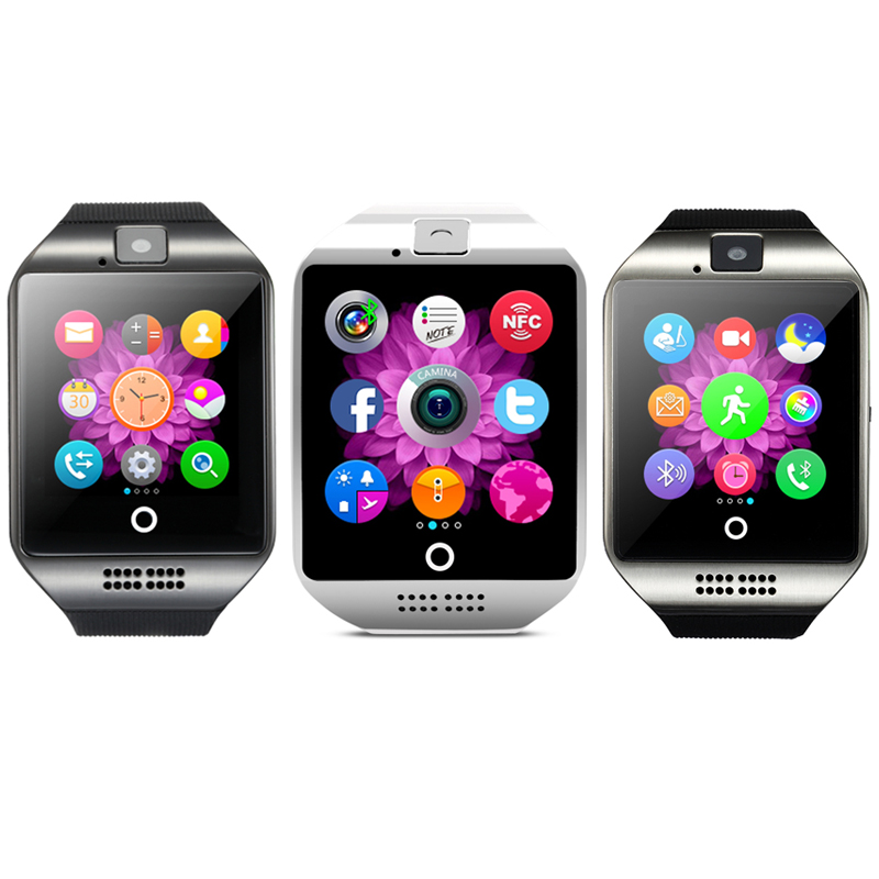 Q18 Touch Screen Smart Bluetooth Watch MTK6260A with Camera NFC For on
