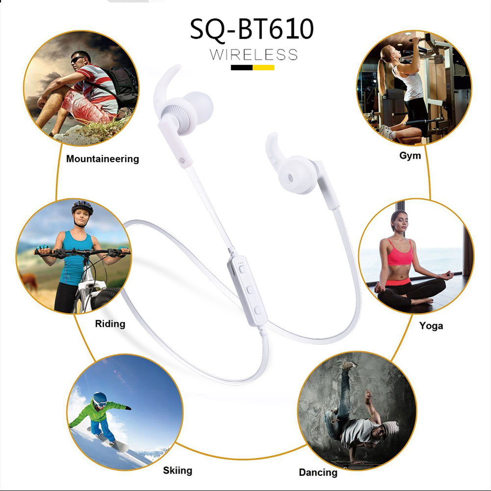 BT610 Sport Bluetooth V4.2 Headset Headphone Sweatproof Stereo Earphone Earbuds with MIC