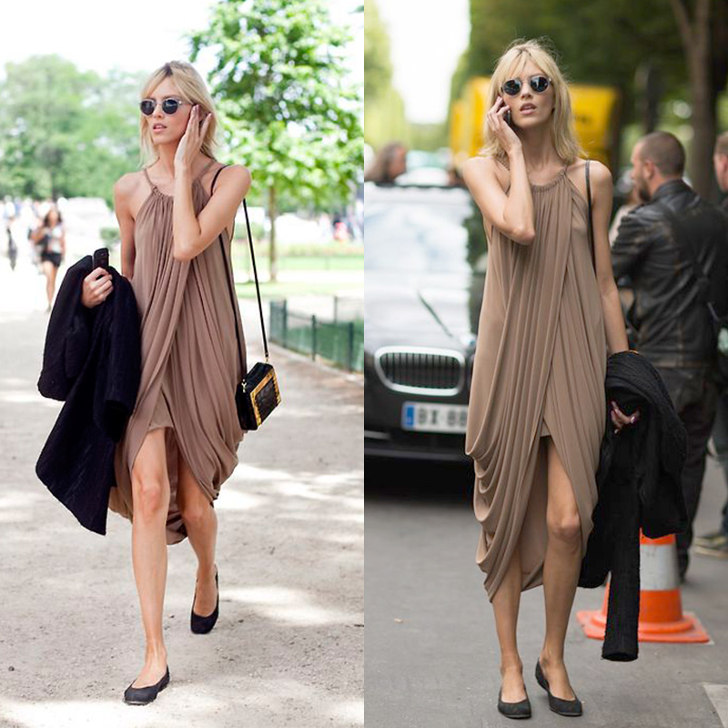 Womens Sexy Casual Loose Maxi Loose Party Beach Cocktail Evening Dress