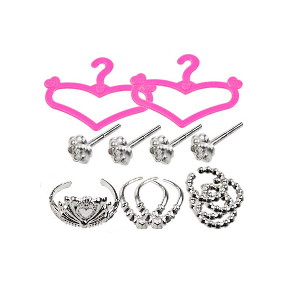 New Fashion Jewelry Necklace Earring Crown Accessory For Barbie Dolls Kids Gift Hot Doll Accessories 42pcs/set
