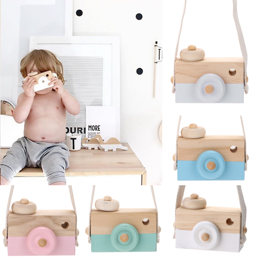 Wooden Camera Cameras Toy Children's Travel Home Decor For Children Kids