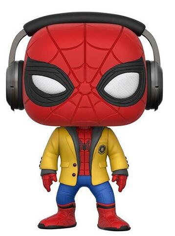 Funko pop Avengers Spiderman 265 with Headset Spider Man Homecoming 10cm Spider-Man Figure Collection Vinyl Doll Model Toys