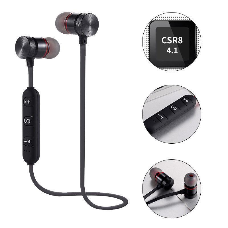 Wireless Sports Bluetooth Magnet Earphone Headset Headphone For iPhone Samsung Huawei