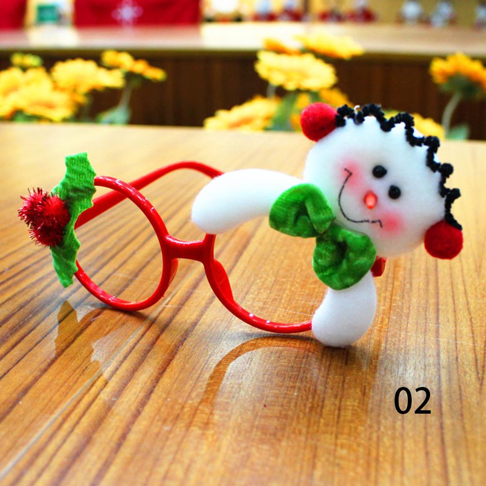 Christmas Glasses Ornament Children Festaival Santas Deer Snowman Xmas Gifts