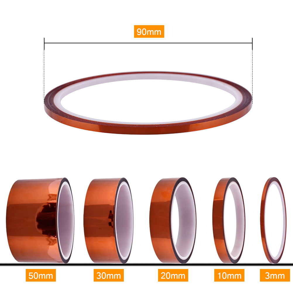 3/10/20/30/50mm x 30m/100ft High Temperature Heat Resistant Insulation Polyimide Tape