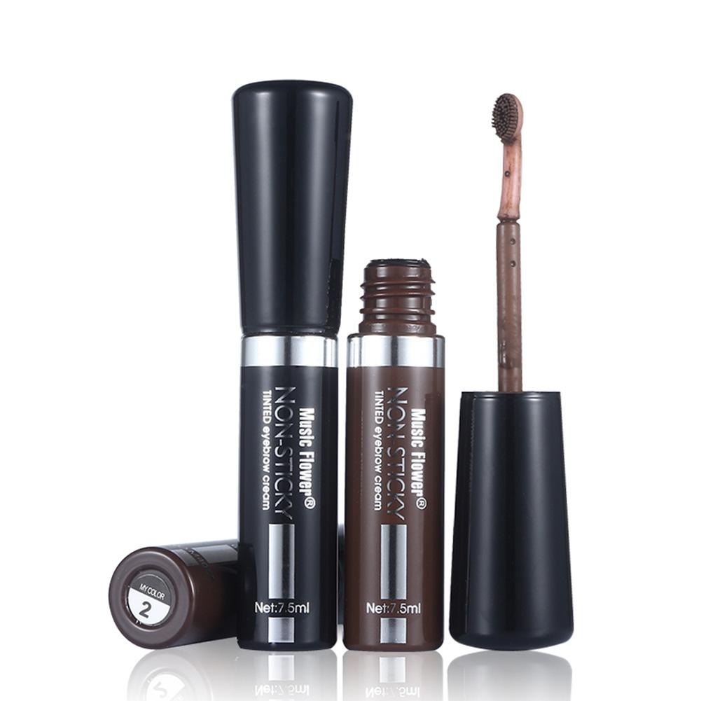Music Flower Waterproof Eye Brow Enhancer Long-lasting Cosmetics With Brush Eyebrow Dye Cream Mascara Gel MakeUp Pen