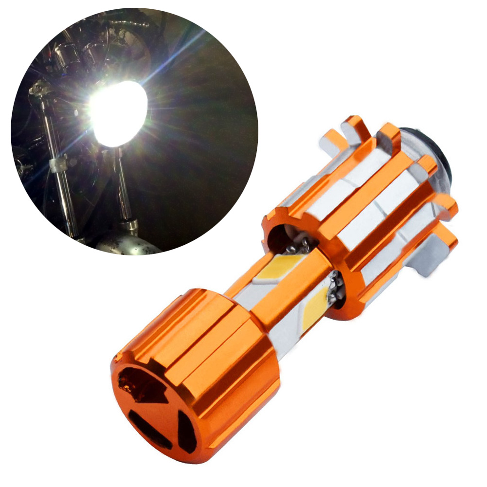 3 COB XP15 18W Motorcycle Headlight LED Bulb 6000K Hi/Lo Beam Light White 2000LM