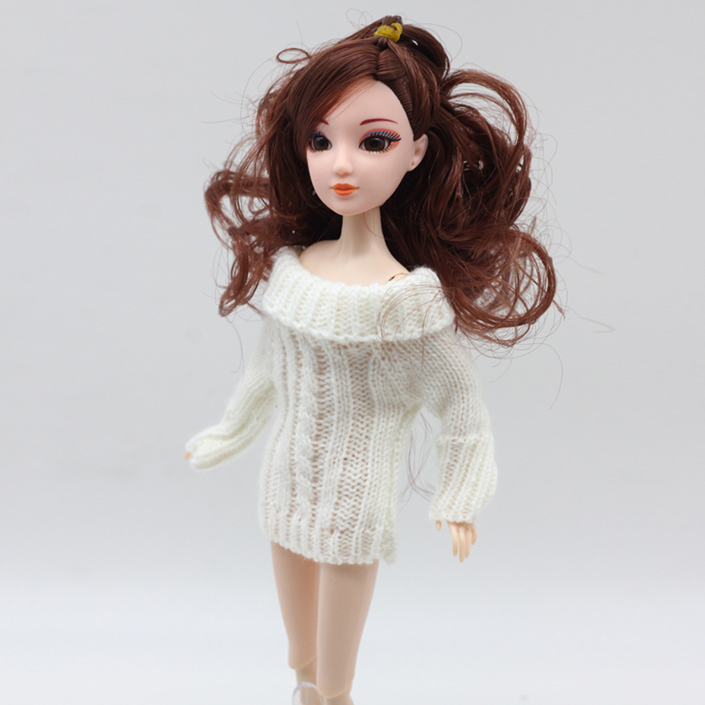 Knitted Sweater Dress Doll Accessories Clothes For Barbie Dolls